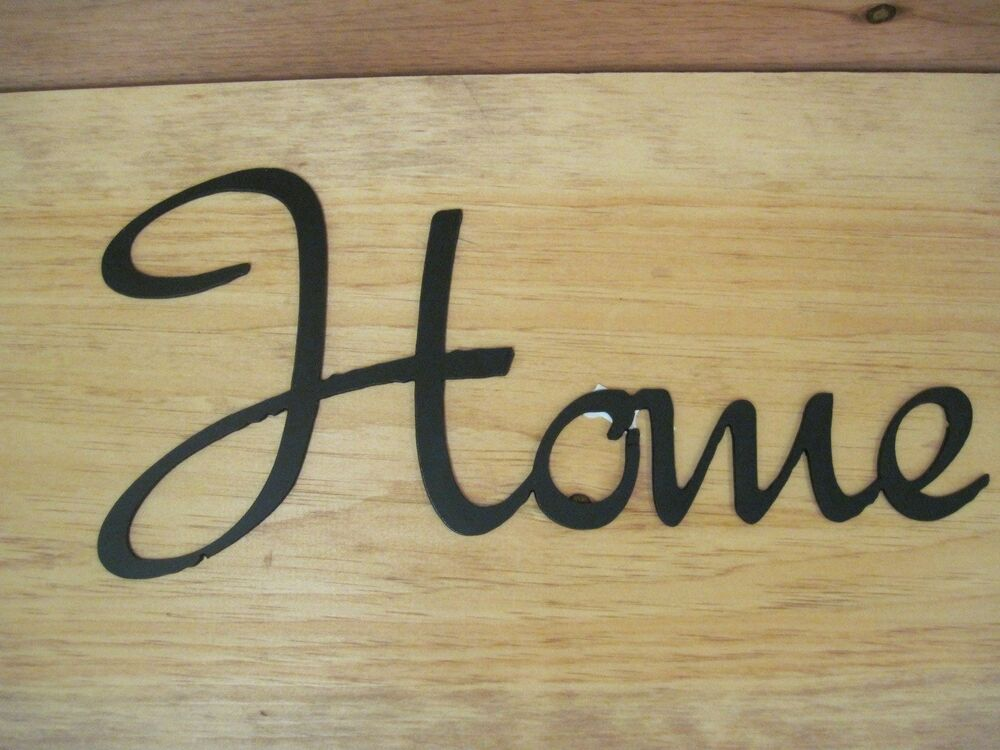 Home- Black Wrought Iron Wall Art Metal Home Decor