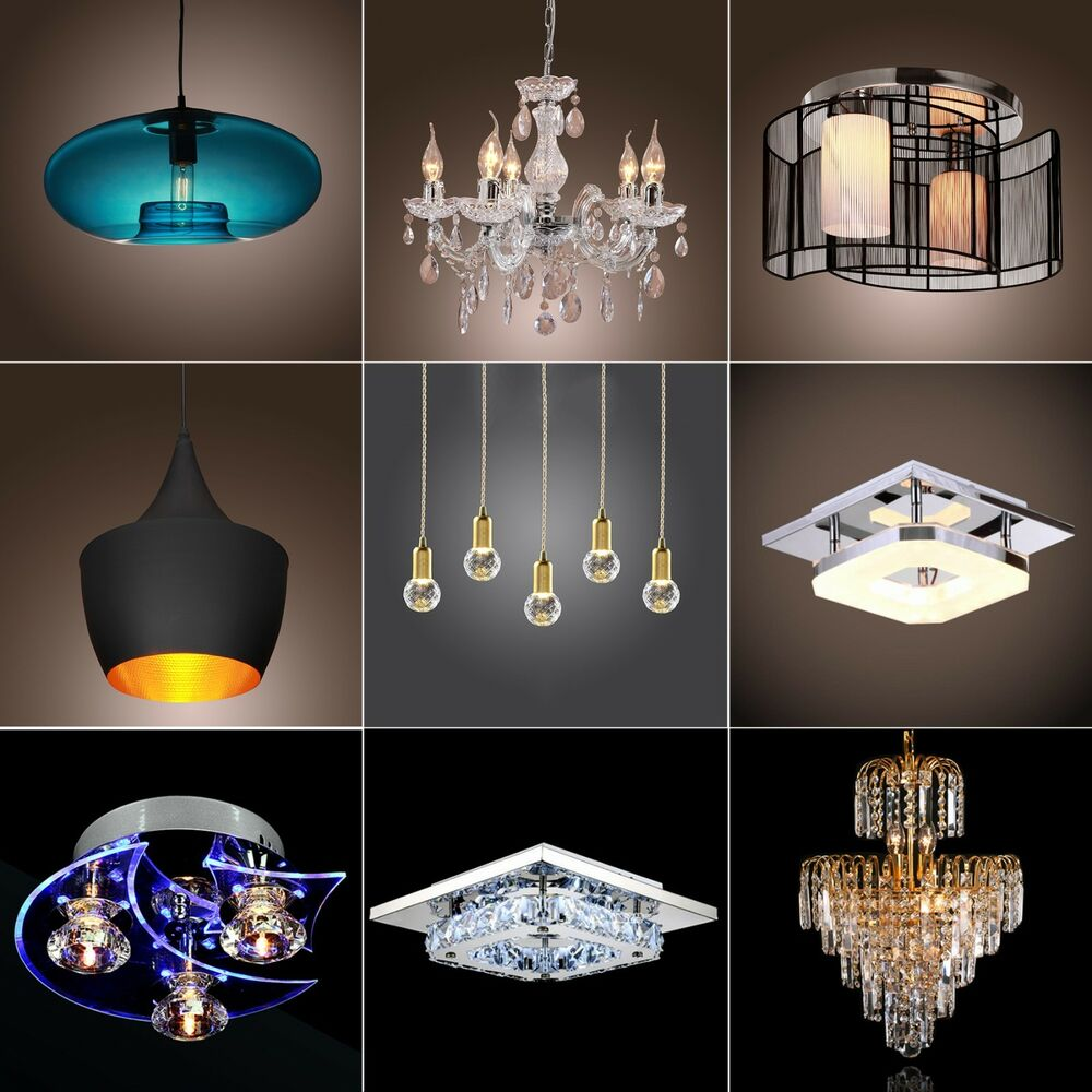 Lighting Fixtures For Home: Modern Crystal Chandelier Ceiling Light Pendant Lamp 9