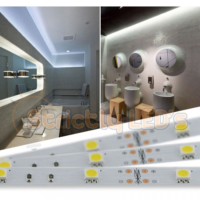 COOL WHITE LED STRIP LIGHTS 5050 LED TAPE RIBBON KITCHEN