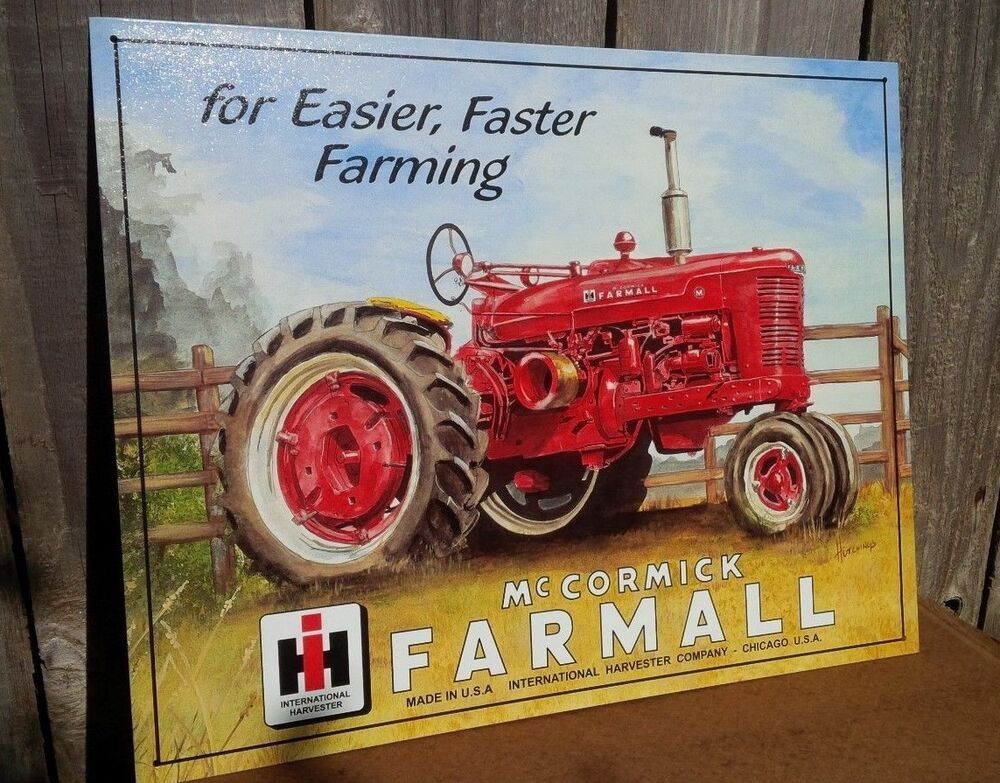 Farmall international harvester tin metal sign classic for International home decor stores
