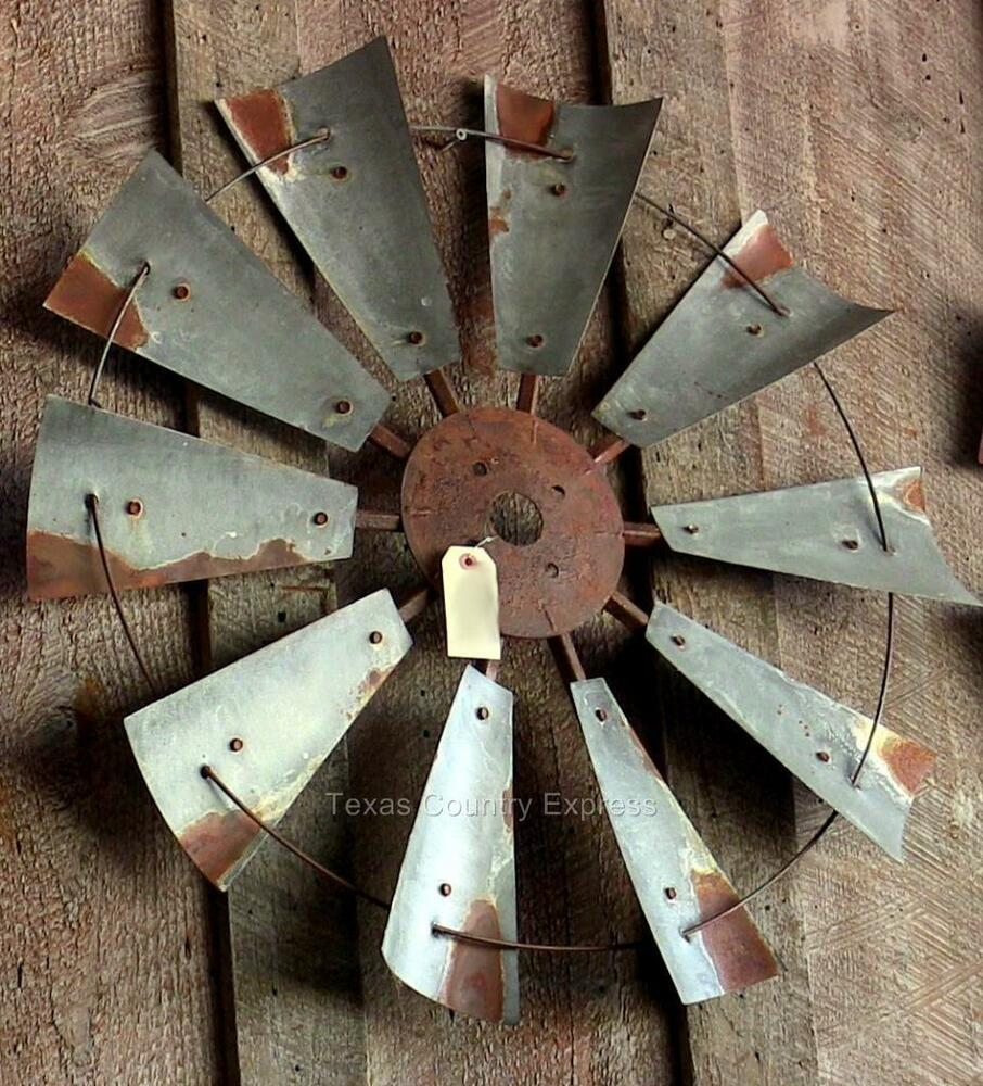 "30"" Rustic Windmill Head Fan Western Ranch Barn Farmhouse ... on Hobby Lobby Outdoor Wall Decor Metal id=50433"