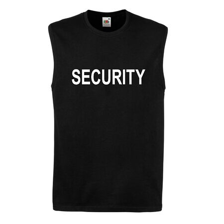 img-SECURITY t shirt SLEEVELESS tank vest top tee guard MUSCLE TOP