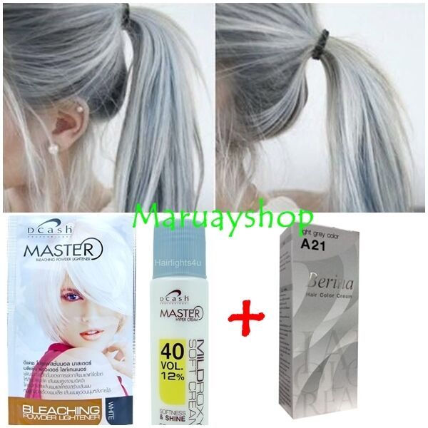 Berina No A21 Color Hair Cream Light Gray Color Permanent