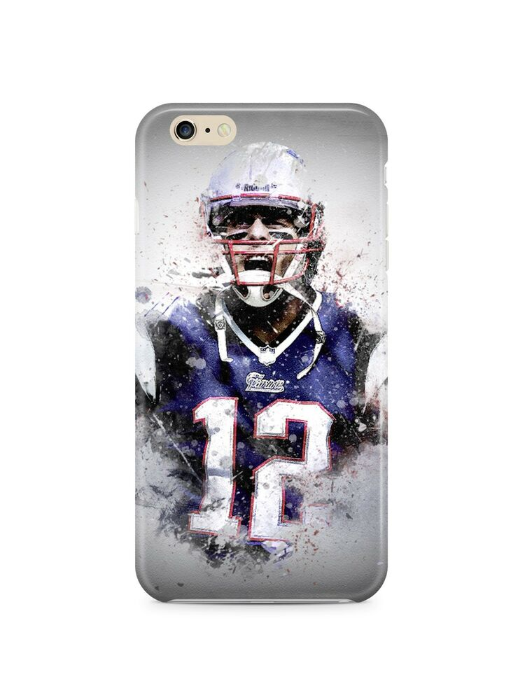 Iphone 4 4s 5 5s 5c 6 6s 7 plus case cover tom brady new for Case in stile new england