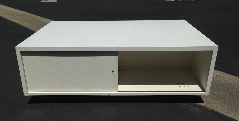 Used Display Tables ~ Retail display storage cabinet white store fixture used