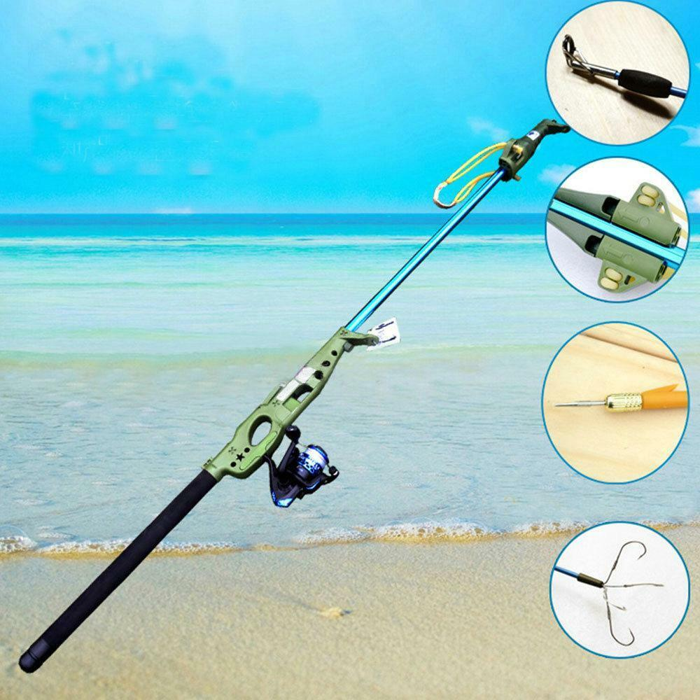 multifunction fly fishing rod reel shooting fish slingshot