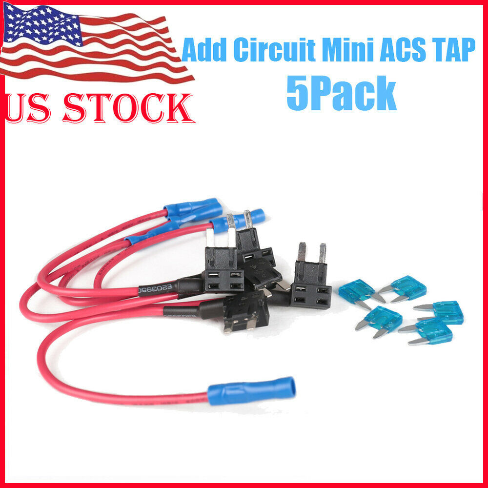 Add A Circuit Mini Ask Answer Wiring Diagram Littelfuse Addacircuit Product Details Pep Boys 5 X 15a Blade Fuse Boxe Holder Acs Ato Atc Piggy Back Tap Us Ebay Napa Instructions