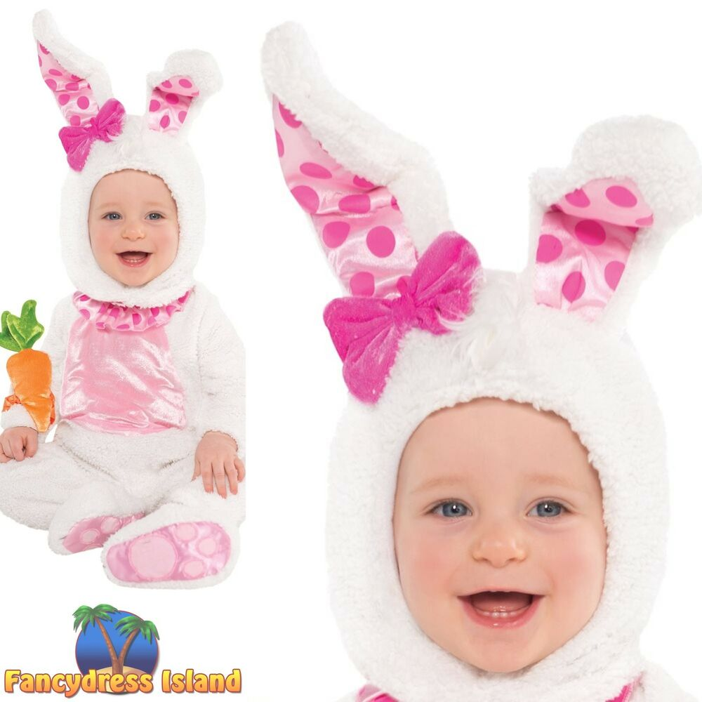 baby toddler little rabbit wabbit bunny costume age 6 18m childs kid fancy dress ebay. Black Bedroom Furniture Sets. Home Design Ideas