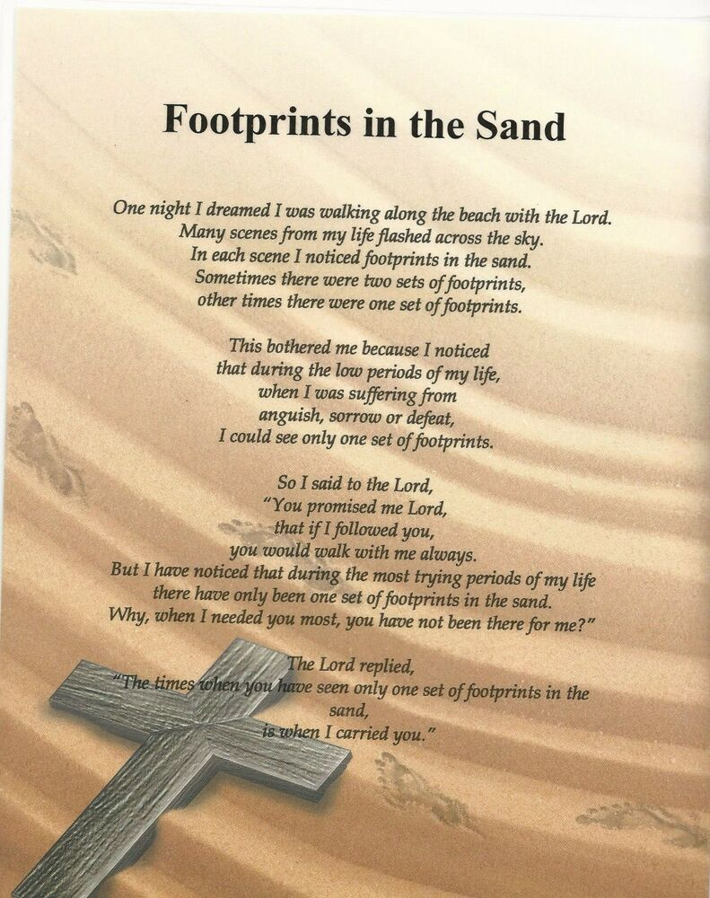 It is a photo of Exhilarating Footprints in the Sand Poem Printable