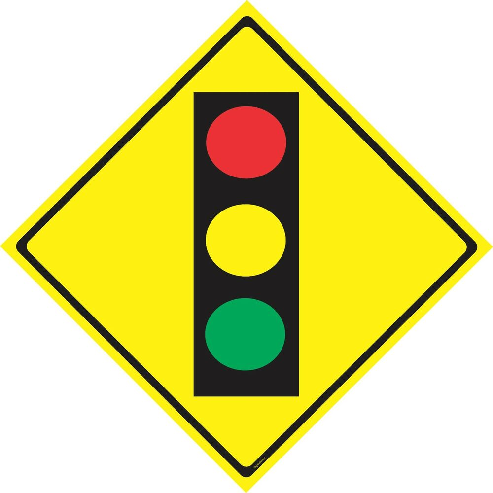signs traffic warning sign road light ahead caution decor room clipart information