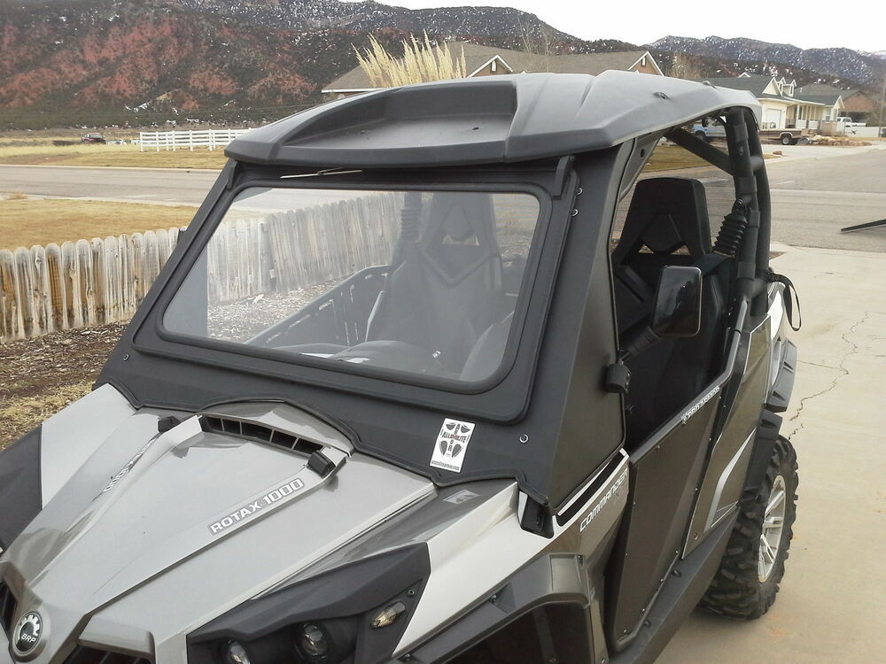 Can Am Commander Tip Out Full Glass Windshield Ebay