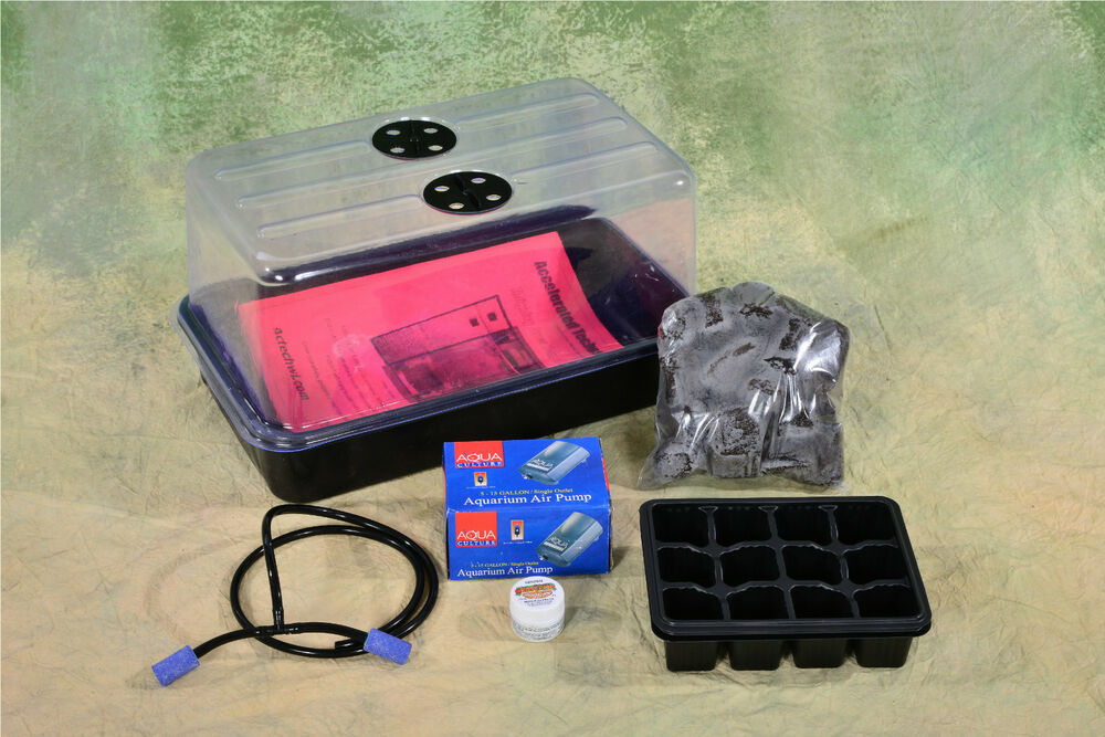 Plant Propagation Cloning Kit Dome Tray Inserts Airpump