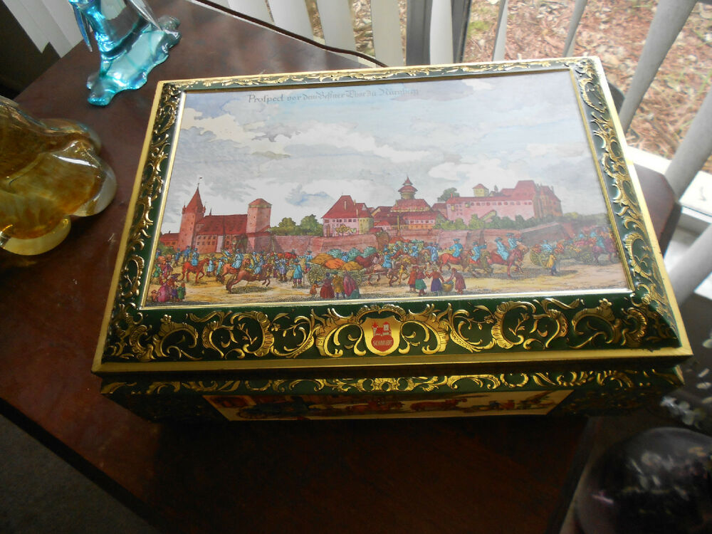 large e otto schmidt west germany tin box ebay. Black Bedroom Furniture Sets. Home Design Ideas