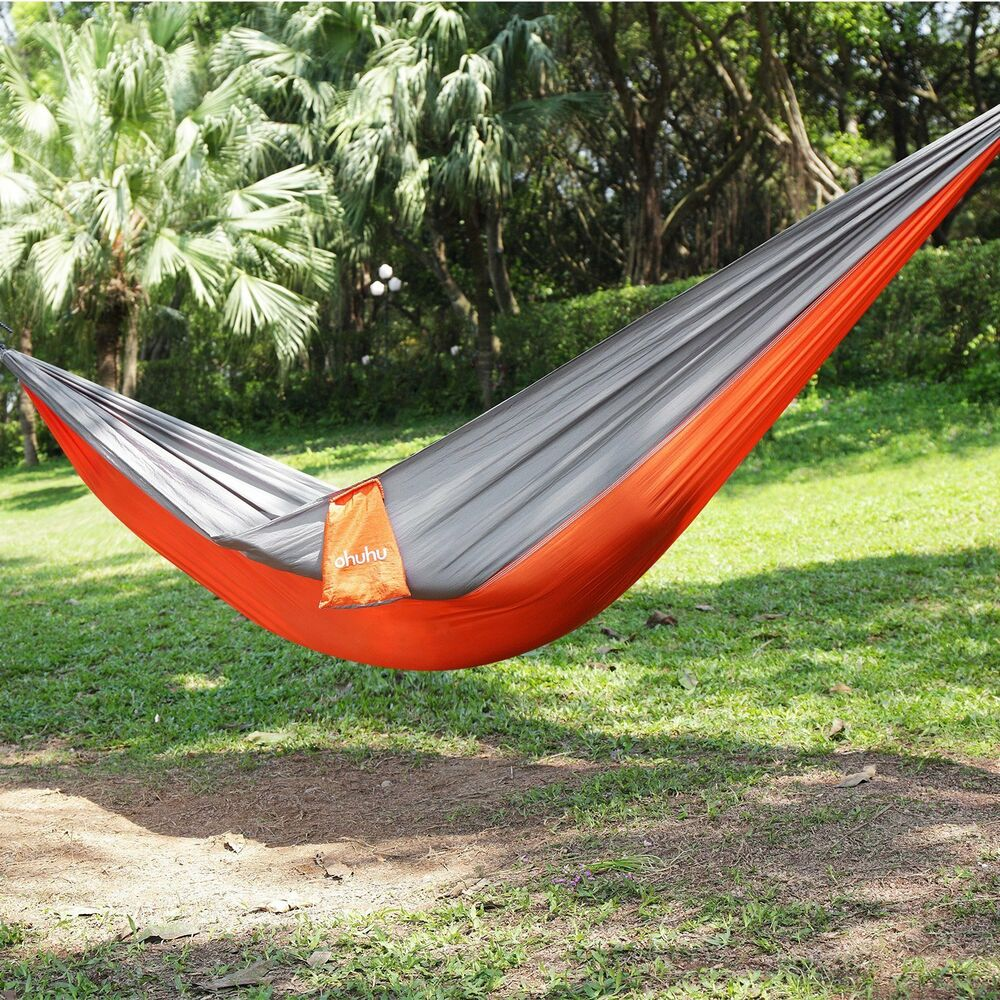 Ohuhu Portable Nylon Fabric Hammock Swing Camping Hanging