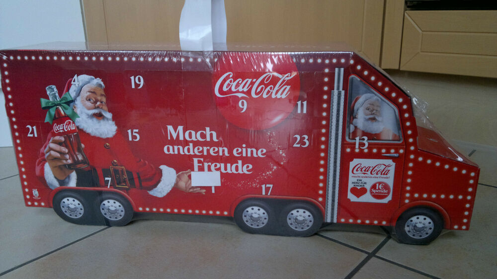 coca cola adventskalender weihnachtskalender truck 2014 ebay. Black Bedroom Furniture Sets. Home Design Ideas