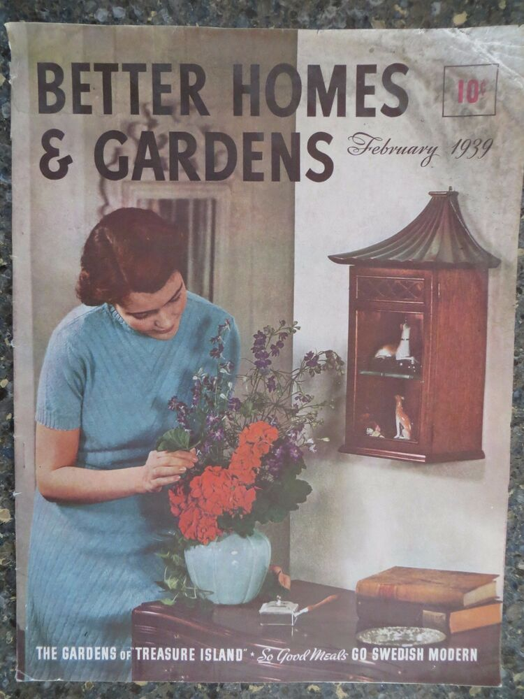 Better Homes Gardens Magazine February 1939 Charles