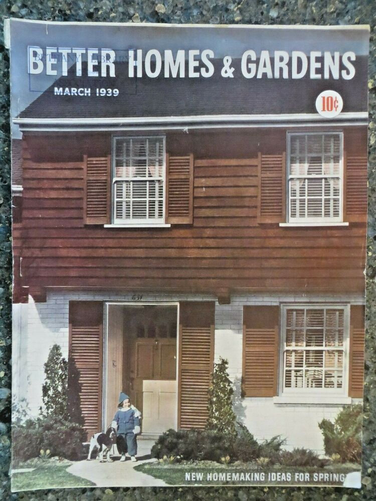Better Homes Gardens Magazine March 1939 Charles Kuoni