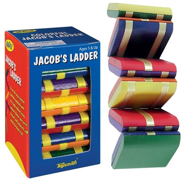 Toys For Autism Special Needs : Jacobs ladder wooden fidget visual stimulation travel toy