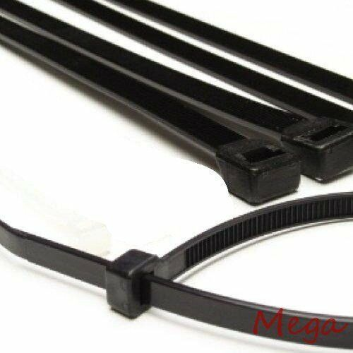 100 12 quot black cable ties heavy duty 50lb industrial wire
