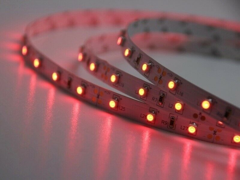 led strip streifen rot 1m 60 leds typ 3528 ip20 flexibel. Black Bedroom Furniture Sets. Home Design Ideas