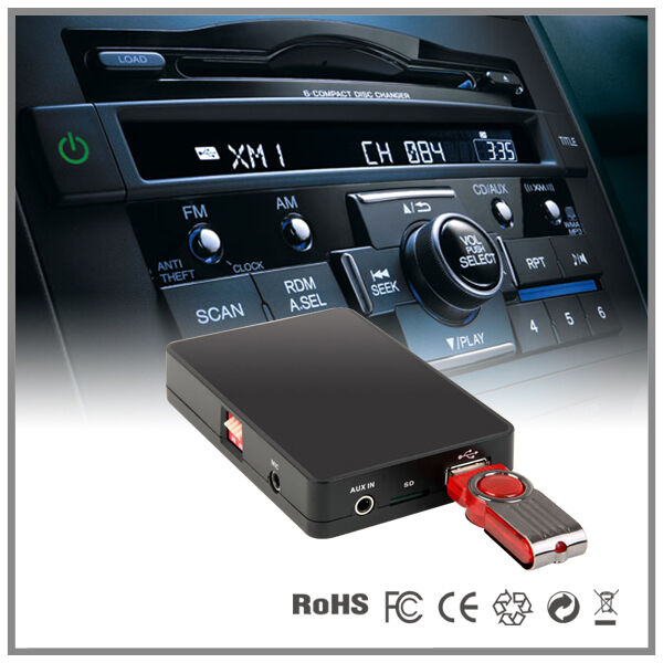 autoradio usb sd aux mp3 wechsler cd adapter honda frv. Black Bedroom Furniture Sets. Home Design Ideas