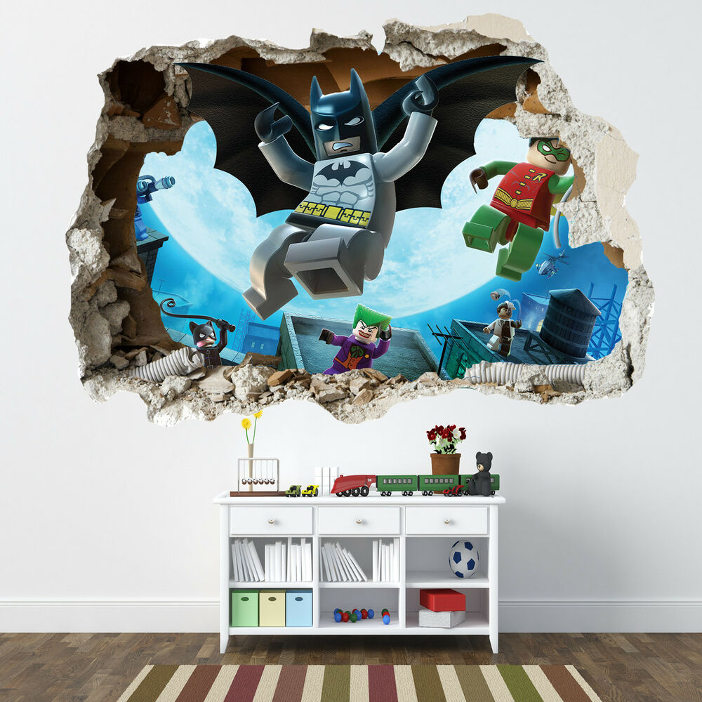 lego batman smashed wall sticker bedroom boys girls lego smashed wall sticker 3d bedroom lego bricks boys