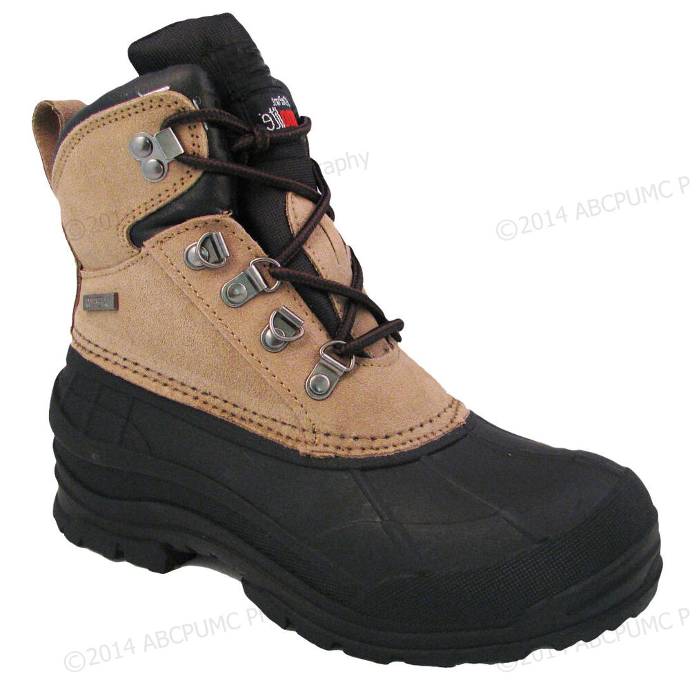 s winter boots leather insulated waterproof hiking