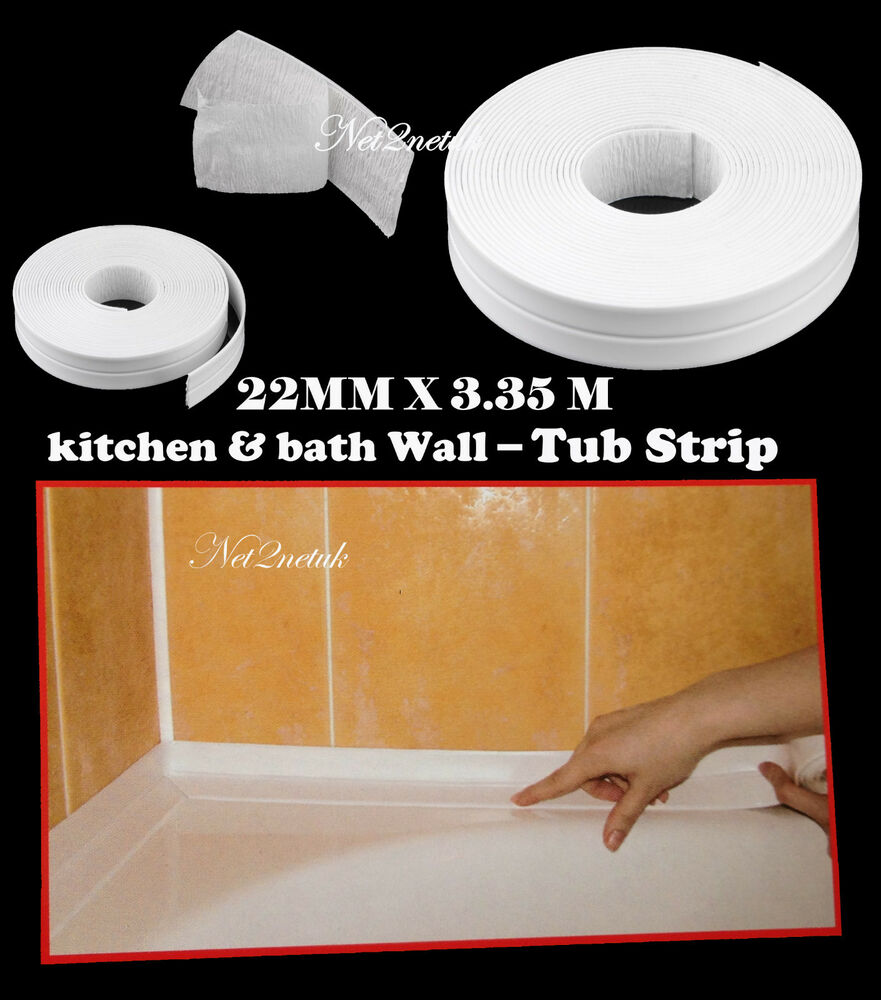 Supadec Bath Amp Wall Sealing Strip 22mm X 3 35m White Tub