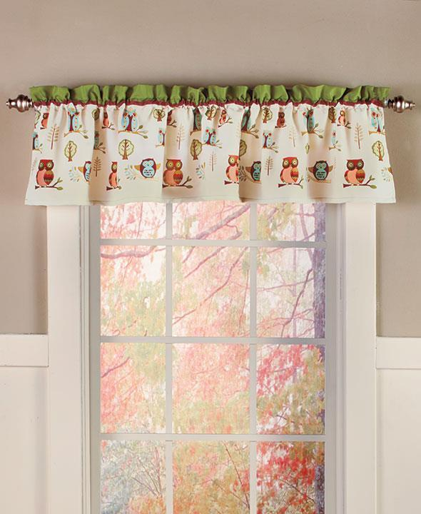 New owl bathroom window valance curtain 60 w x 18 l ebay for 18 x 60 window