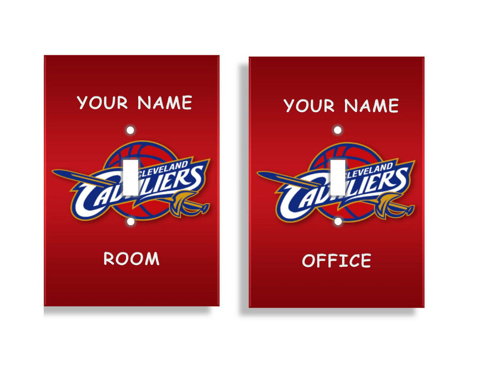 PERSONALIZED Cleveland Cavaliers Light Switch Covers NBA