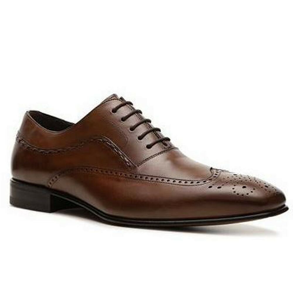 mezlan mens varela lace up wing tip perforated business