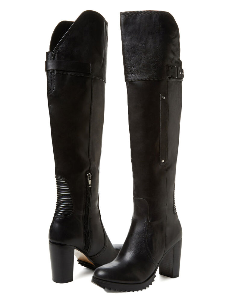 Dolce vita womens indygo saw sole tall zipper knee high fashion heels