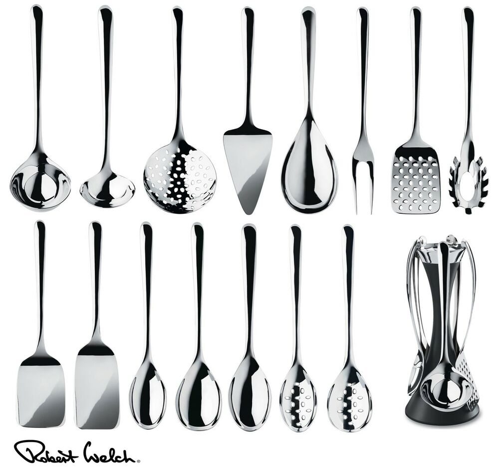 Robert welch signature kitchen utensils set spoon turner for Set de utensilios de cocina facusa