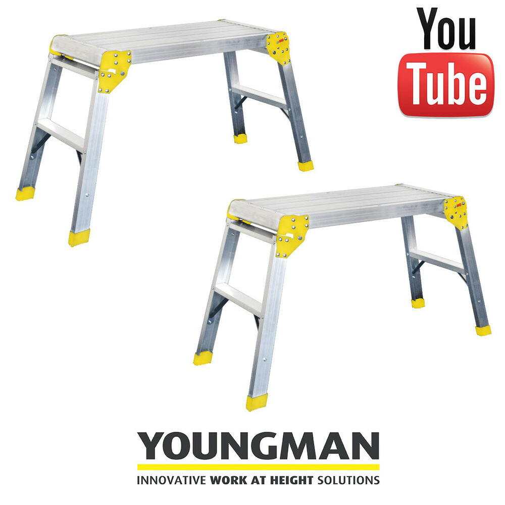 Two Youngman Odd Jobs Platform Step Ladder Decorator