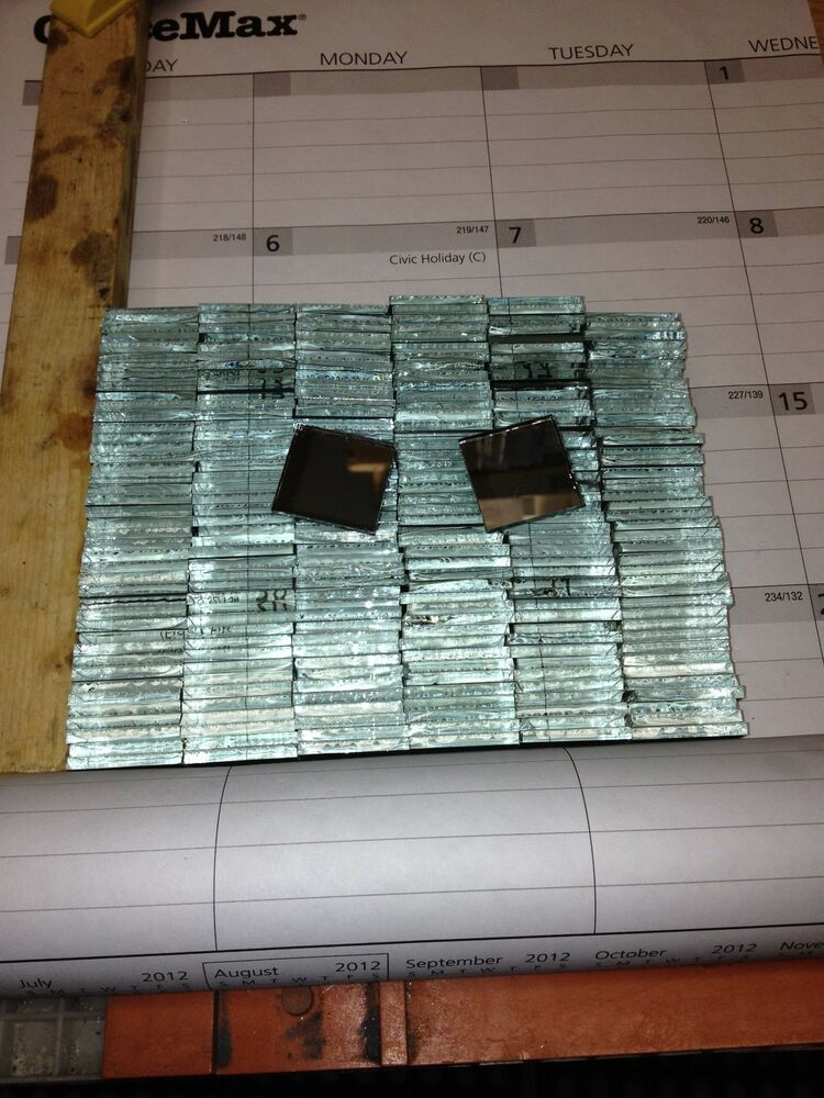 1 inch square mirror tiles 1250 ebay for Mirror tiles