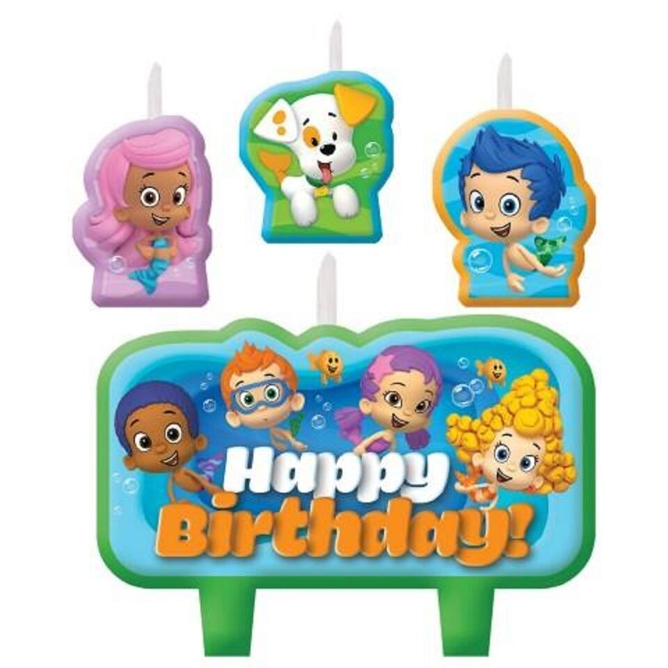 Bubble guppies birthday candle set cake toppers decorations party supplies favor ebay - Bubble guppie birthday ideas ...