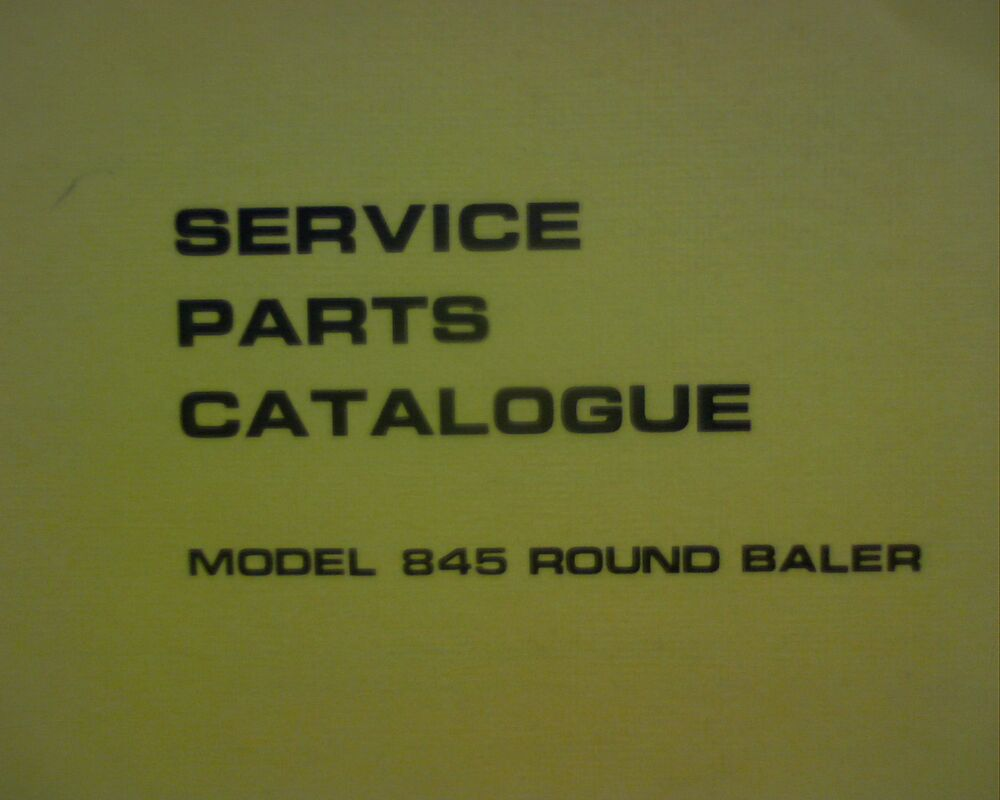 New Holland NH 845 Round hay baler, Spare parts manual / book catalogue  currore | eBay