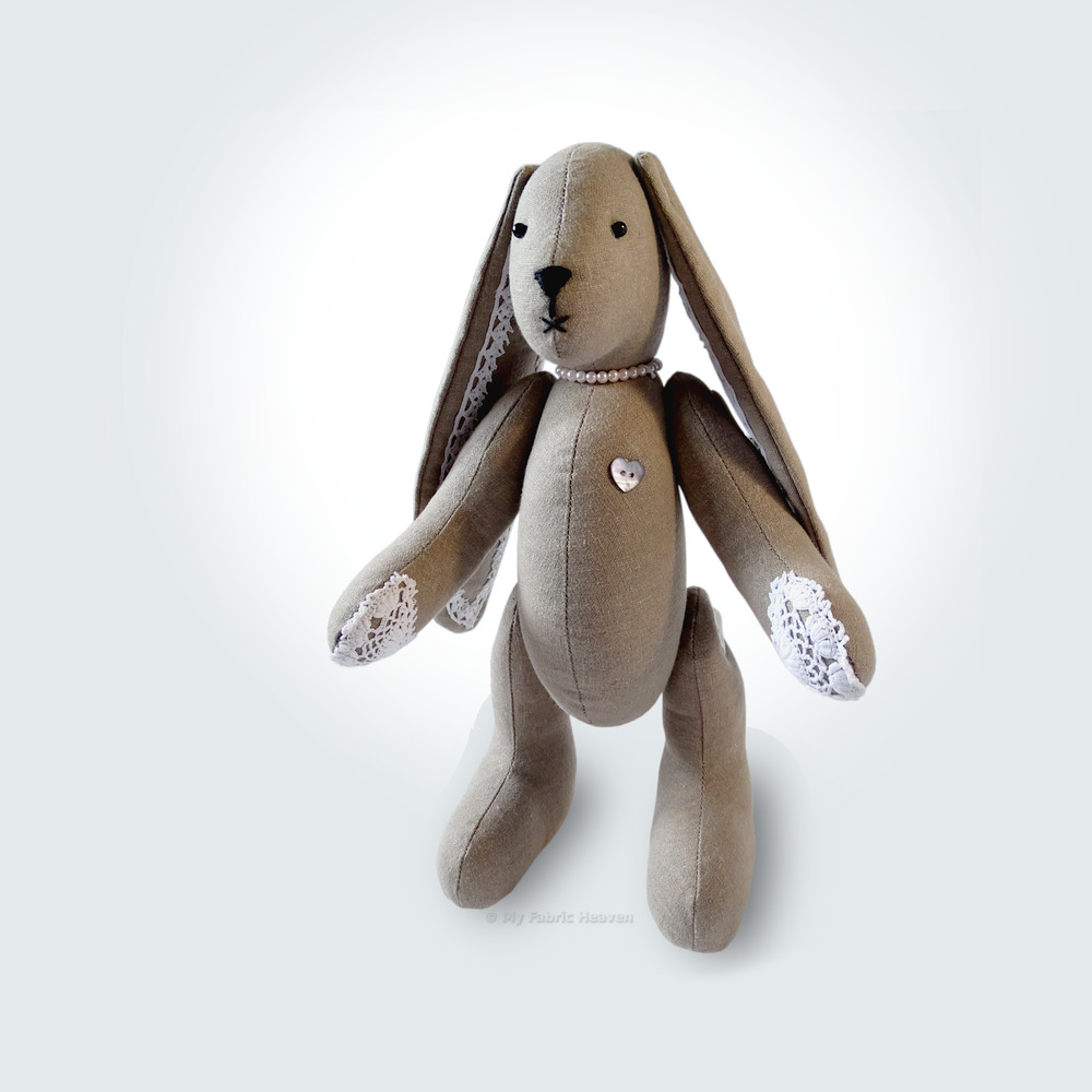 Soft Toy Patterns : Sewing pattern lacy bunny floppy eared rabbit
