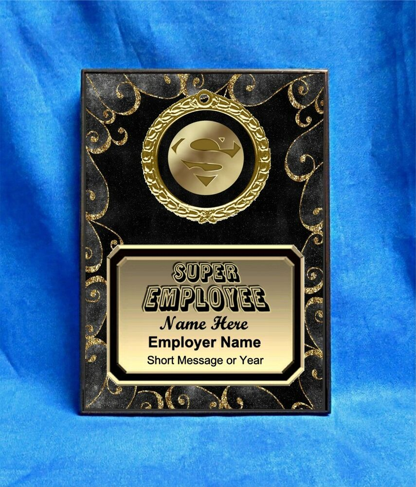 Super Employee Custom Personalized Award Plaque Gift