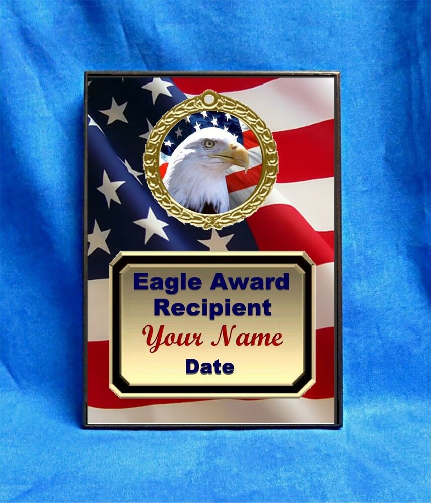 Unique Gifts: Scout Eagle Head Custom Personalized Award Plaque Gift