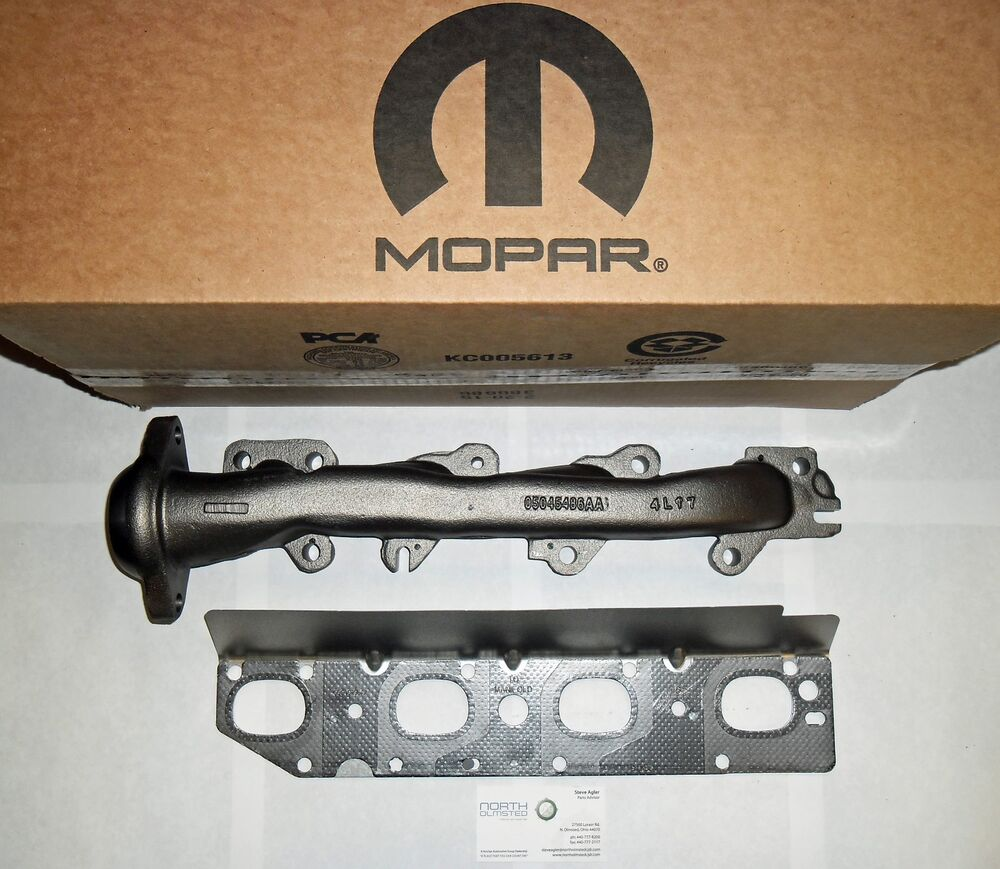 Ram Mopar Accessories >> 09-16 OEM 5.7L HEMI RIGHT PASSENGER EXHAUST MANIFOLD & GASKET RAM 1500 2500 3500 | eBay