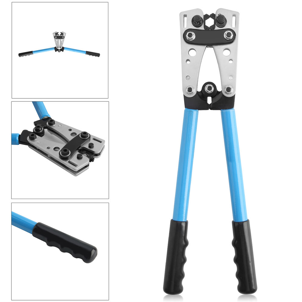 6 50mm electrician cable wire crimping crimper hand tool pliers ratchet crimp ebay. Black Bedroom Furniture Sets. Home Design Ideas