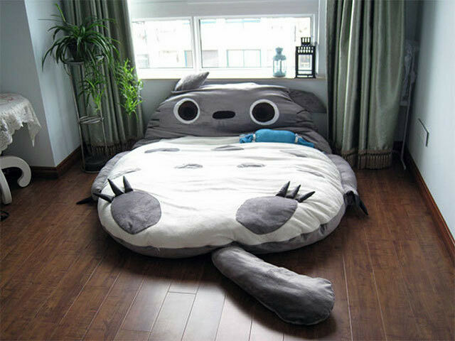 Totoro design big sofa double bed sleeping bag for Double divan bed without mattress