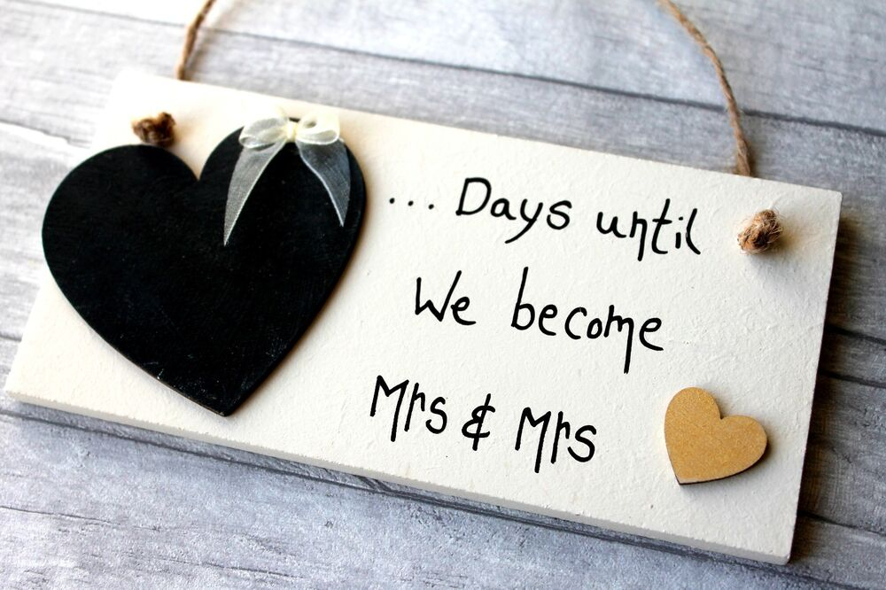 Mr And Mrs Gifts Wedding: Gay Wedding Gifts Mrs And Mrs Countdown Plaque Civil
