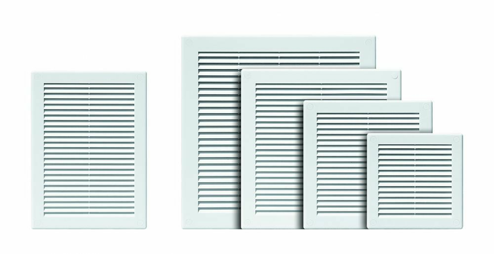 White Air Vent Grille Ducting Ventilation Cover High