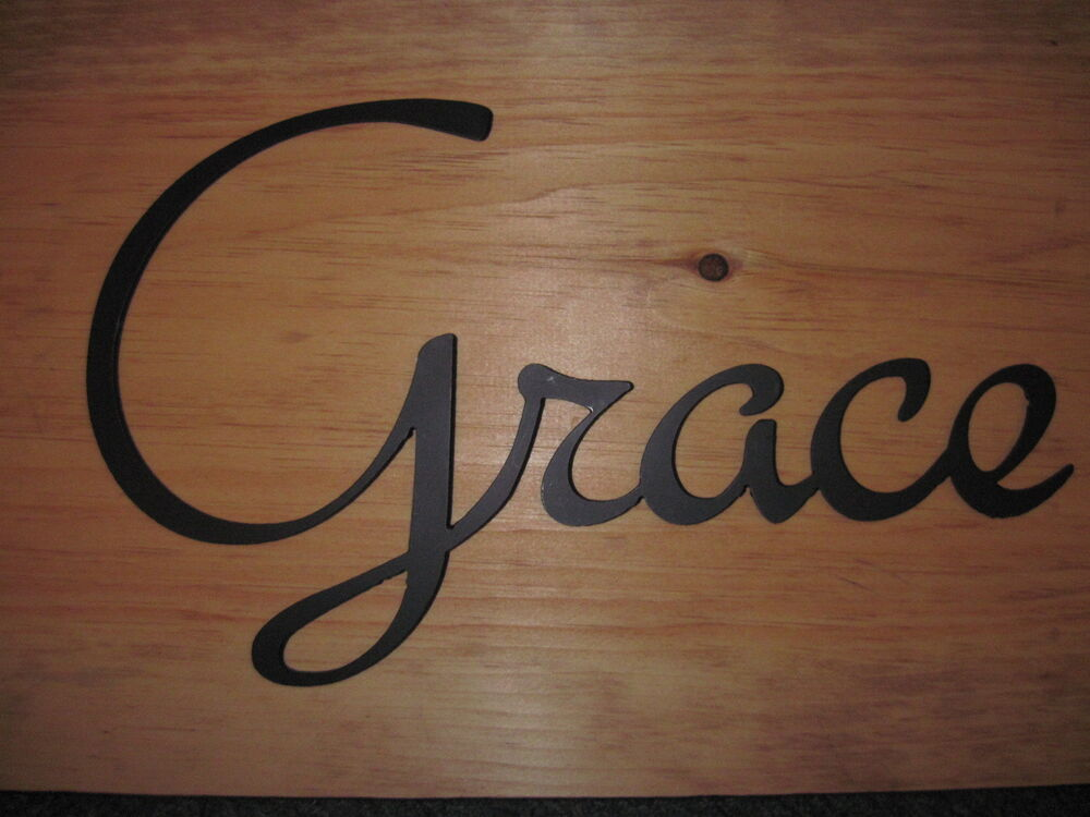 Grace-Black Wrought Iron Wall Art Metal Home Decor