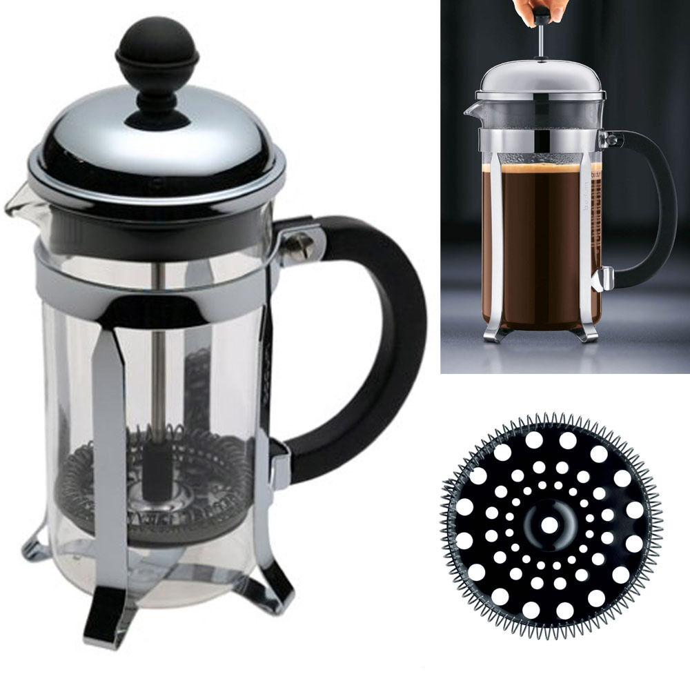 French Press Coffee Maker Cholesterol : Bodum Chambord 3 Cup Glass French Press Stainless Steel Coffee Tea Maker Kitchen eBay