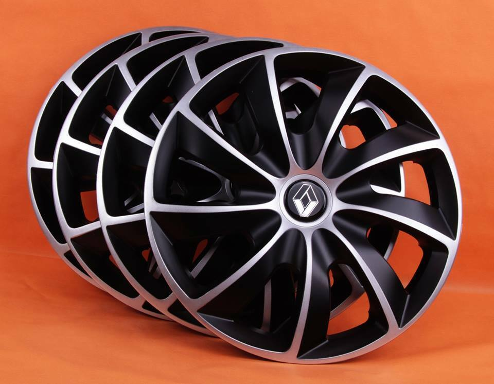 14 renault clio kangoo megane etc wheel trims covers hub caps quantity 4 ebay. Black Bedroom Furniture Sets. Home Design Ideas