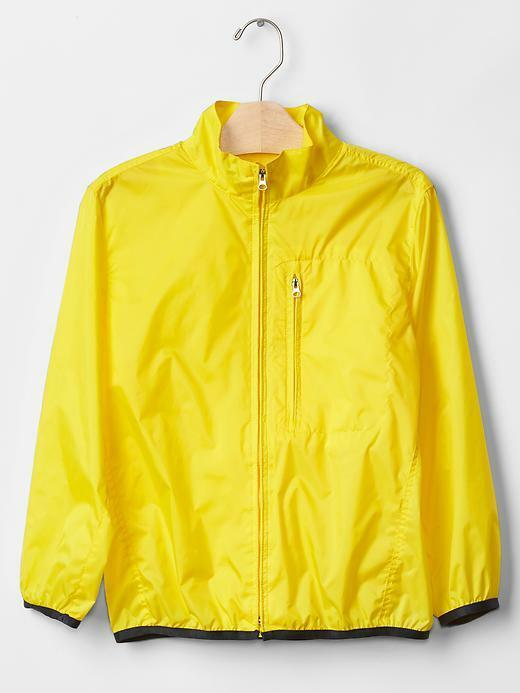 Boy Gap Rain Jacket Yellow Nylon Light Packable Ripstop