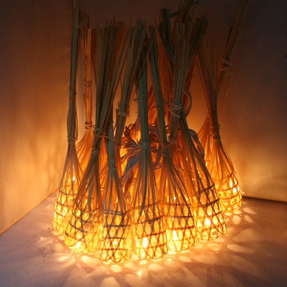 patio string lights gaiashine handmade bamboo baskets string outdoor 30618